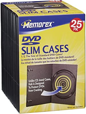 Amazon.com: Slim DVD Storage Cases: Home Audio & Theater