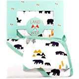 Hooded Baby Towel & Washcloth Bath Set | Extra Soft Organic & Hypoallergenic Bamboo | 2x Softer & 40% More Absorbent Than Cotton | Perfect towel with hood for newborn infant to toddler boys and girls