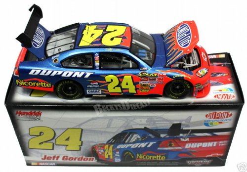 2007 Jeff Gordon #24 Dupont Impala SS COT 1/24 Scale Diecast Hood, Trunk, Roof Flaps Open, Front Splitter Rear Wing Action Racing Collectables ARC Limited Edition ()