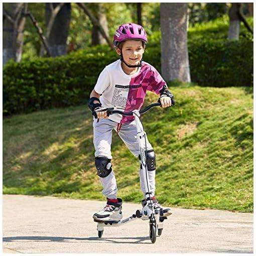 Trottinette pivotante en Y pliante à 3 roues, pour enfant à partir de 5 ans