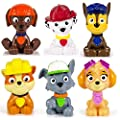 Paw Patrol Mini Figures Set of 6 - Rocky, Zuma, Skye, Rubble, Marshall & Chase