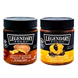 Legendary Foods Nut Butter - Natural Ingredients, Sea Salt, Rich In Protein. Healthy Spread - No Added Sugar or Artificial Flavors - Gluten Free (Variety Pack, 12 oz (Pack of 2))