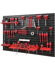 Gereedschapswand -1152 x 780 mm – set gereedschapshouders met gatenwand, opslagsysteem, gereedschapswand, wandrek, werkplaatsplank