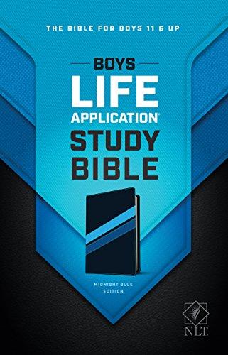 NLT Boys Life Application Study Bible, TuTone (LeatherLike, Midnight Blue)
