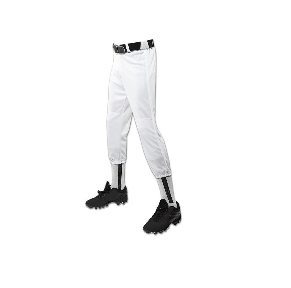 Champro パフォーマンスプルアップ野球パンツ ベルトループ付き ユース用 B003XYX8OA Small|ホワイト ホワイト Small