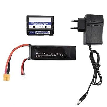 Batería RC LiPo, 11.1V 3S 2600mAh 20C Batería LiPo con ...