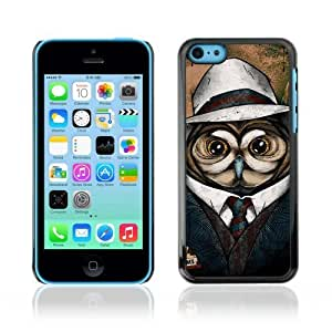 linJUN FENGDesigner Depo Hard Protection Case for Apple iphone 5/5s / Cool Owl Detective