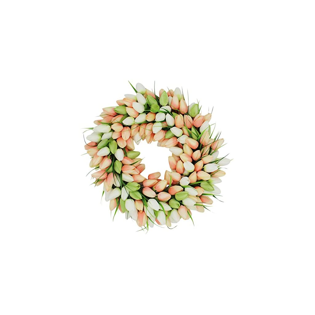 The-Wreath-Depot-Coral-Tulip-Front-Door-Wreath-19-Inches