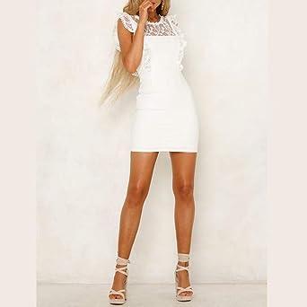 Sonojie damska sukienka bez rękawÓw z rękawami bez rękawÓw, cienka, krÓtka, atrakcyjna sukienka wieczorowa: Odzież