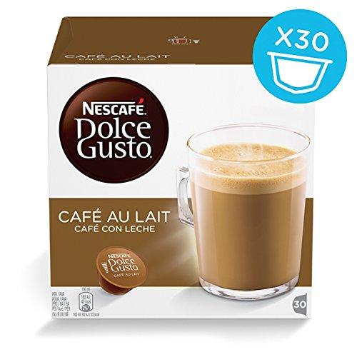 -[ NESCAFÉ Dolce Gusto Café Au Lait - Pack of 3 (Total 90 Capsules, 90 servings)  ]-