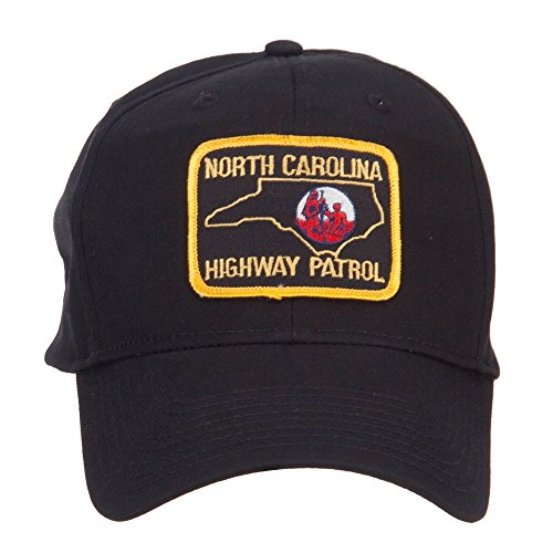 E4hats North Carolina Highway Patrol Patched Cap - Black (Highway Patrol Hats)