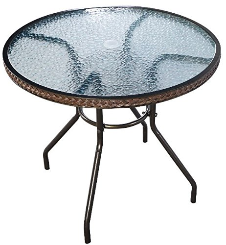K&A Company Round Steel Patio Table Indoor Outdoor Restaurant Furniture Folding by K&A Company