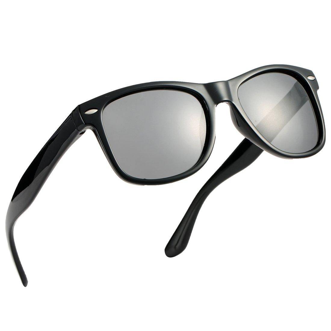 Pro Acme TPEE Rubber Flexible Polarized Sunglasses (Black Frame/Black Lens/54) by Pro Acme
