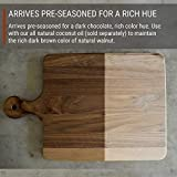 Walnut Wood Cutting Board with Handle by Virginia