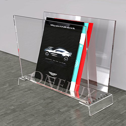 Craftworks Magazine - ONELUX Clear Acrylic Home use Acrylic Magazine/Newspaper/brochure Rack,Lucite Book Holder - KD Packed