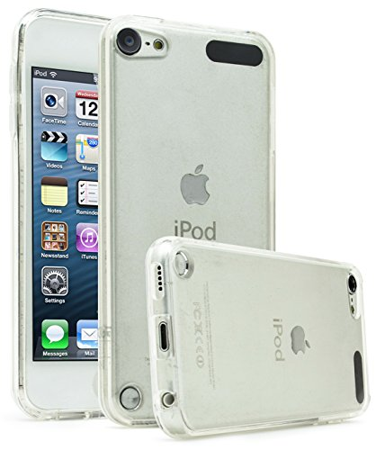 iPod Touch 6, Touch 5 Case, Bastex Crystal Clear Air Fused Rugged Ultra Slim Fit Shockproof Rubberized Plastic Bumper Clear Back Panel Cover Flexible TPU for iPod Touch 6th & 5th Generation(Clear)