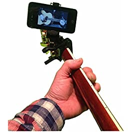 Smartphone Guitar Capo | Android and iPhone Compatible Dock Headstock Neck Clamp | I-Po Cell Phone Holder Aid Musicians…