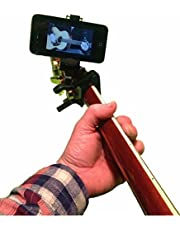 Smart-Po Smartphone Guitar Capo   Android and iPhone Compatible Dock Headstock Neck Clamp   Cell Phone Holder Aid Musicians   Electric or Acoustic Guitars