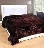Home Crust Double bed mink blanket 2.5kgs plain -coffee