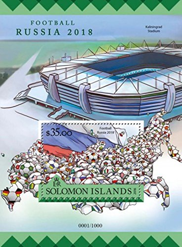 Solomon Islands - 2016 Football Russia - Souvenir Sheet - SLM16207b