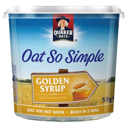 Quaker Oats Haver zo eenvoudig gouden siroop pot 57g PMP geval van 8