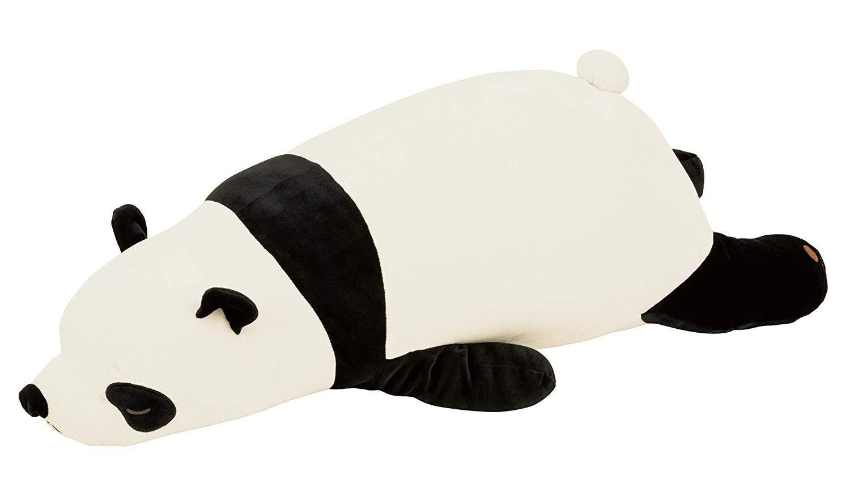 Livheart Panda Premium Nemu Nemu Sleepy Head Animals Body Pillow Plush Giant Panda 'PaoPao' Size L (30''x13''x8'') Japan Import 28977-99 Huggable Super Soft Stuffed Pillow by Livheart