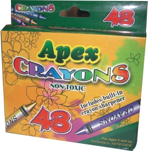 Apex Crayon 48 ct w/Sharpener 48 pcs sku# 1277492MA by DDI