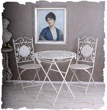 Amazonde Nostalgie Gartenmöbel Shabby Chic Weiss Vintage