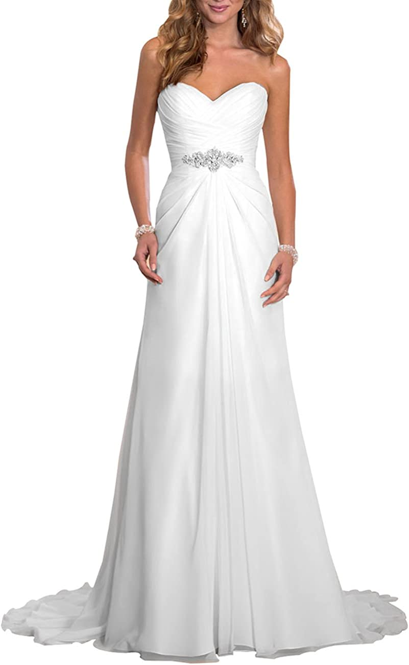 Erosebridal Strand Brautkleid Günstige Hochzeitskleid Elfenbein