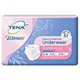 TENA for Women Heavy Protection Underwear, Super Plus Absorbency, Small/Medium, 18 Count