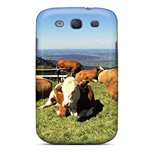Galaxy S3 Case Cover Summer Cows Case - Eco-friendly Packaging