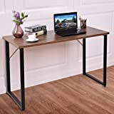 TANGKULA Writing Table Wood PC Laptop Beginnings Computer Desk Home Office Furniture (brown)