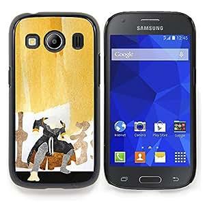 """Qstar Arte & diseño plástico duro Fundas Cover Cubre Hard Case Cover para Samsung Galaxy Ace Style LTE/ G357 (Pintura del samurai"""")"""