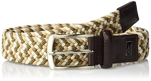Greg Norman Men's Multi Colored Belt, Khaki/Beige/Cream, 36 ()