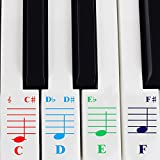 Piano Stickers for 49 / 61/ 76 / 88 Key Keyboards – Transparent and Removable with Free Piano Ebook