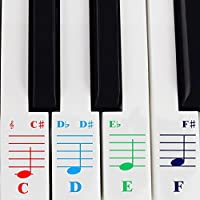 Piano Stickers for 49 / 61/ 76 / 88 Key Keyboards –...