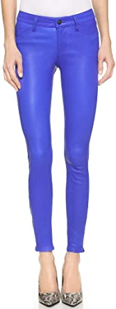 J Brand Womens Leather L8001 Stretch Skinny Jeans Blue Size 25