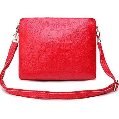 Eysee - Cartera de mano para mujer Rojo rojo 25cm*20cm*1cm rojo