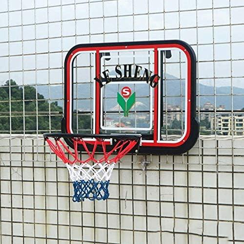 バスケットゴール バスケツトゴール バスケ ゴール バスケットボールボード、バスケットボールボード、ボール、ポンプバックボードで調整可能バスケットボールフープバスケットボールボードサイズ79x52cmのウォールマウント 室内 屋外用
