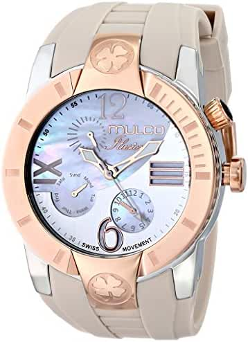 MULCO Unisex MW5-1877-113 ILUSION CRESCENT Analog Display Swiss Quartz Beige Watch