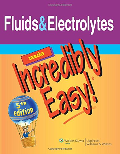Fluids & Electrolytes Made Incredibly Easy (Incredibly Easy! Series®) (Made Fluid Easy Electrolyte)