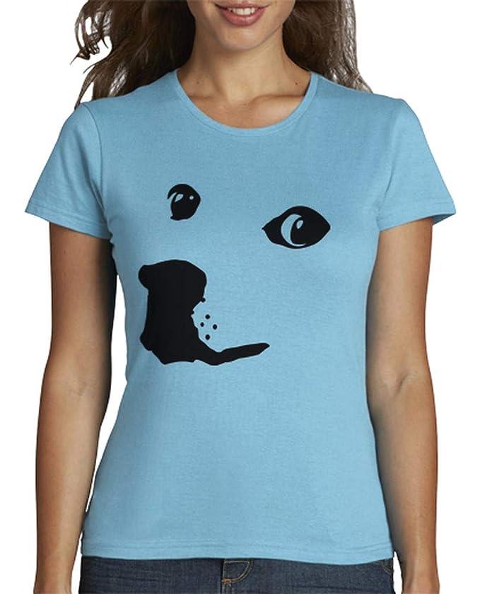 latostadora - Camiseta Doge para Mujer Azul Cielo S: AriHunter: Amazon.es: Ropa y accesorios