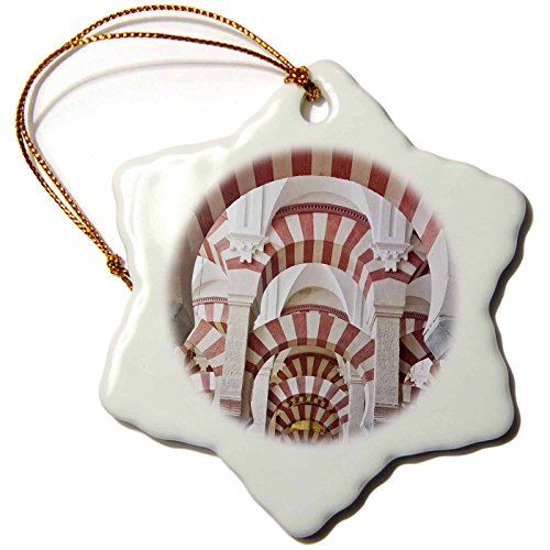 3dRose Catedral Mosque of Cordoba, Andalucia, Spain - Eu27 Rti0006 - Rob Tilley - Snowflake Ornament, Porcelain, 3-Inch (orn_139119_1) by 3dRose