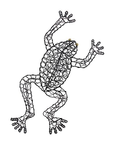 Zeckos Bronze Finish Looped Metal Frog Wall Hanging 22 1/2 Inches - Wall Finish Patina Bronze