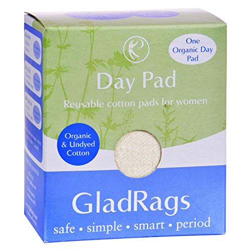 GladRags Organic Undyed Cotton Day Pads - Includes 1 holder + 2 inserts