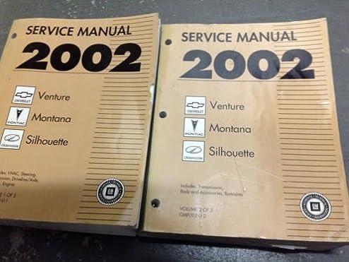 2002 chevy venture pontiac montana silhouette service shop repair rh amazon com 2002 chevy venture repair manual free 2002 Chevy Venture Harness Cables