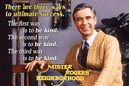 (Mr Rogers Neighborhood Quote Poster Growth Mindset Decor Teaching Kids Kindness Classroom Inspirational Posters Education School Classrooms Quotes Wall Art Décor Supplies Elementary Teacher)