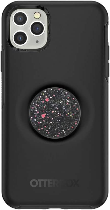 Otter + Pop for iPhone 11 Pro Max: OtterBox Symmetry Series Case with PopSockets Swappable PopTop - Black and Sparkle Black