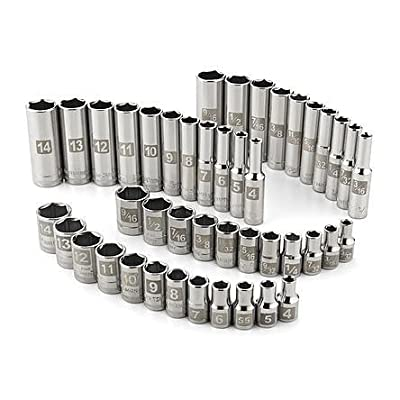 Craftsman 44 pc. Easy Read Socket Set, 6 pt. Standard and Deep, 1/4 in. Dr.
