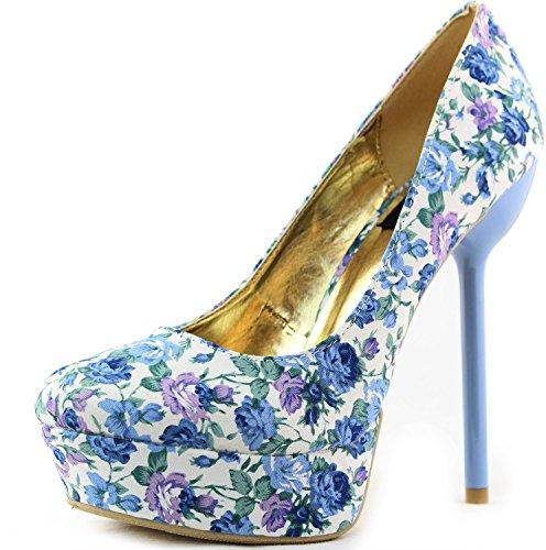 Tacco Alto Da Donna Con Tacco A Spillo Tacco Alto A Punta Tinta Unita Sexy Glitterato Blu Moda Scarpe Pompe Blu